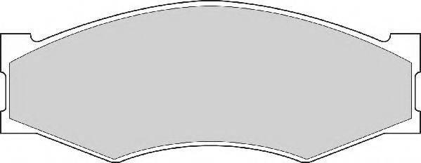 NECTO FD827A Комплект тормозных колодок, дисковый тормоз