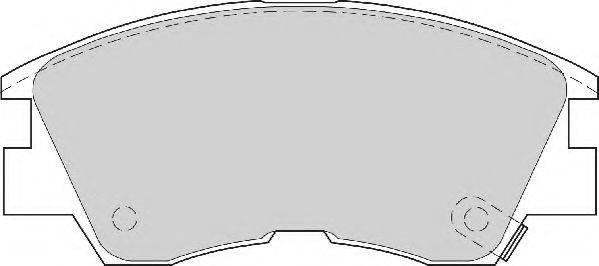 NECTO FD6461N Комплект тормозных колодок, дисковый тормоз