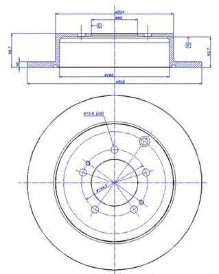 CAR 1421314 Тормозной диск