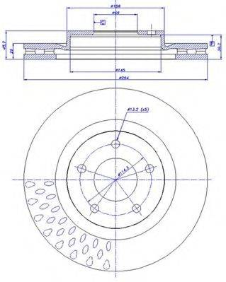 CAR 1421476 Тормозной диск