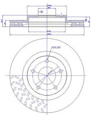CAR 1421745 Тормозной диск