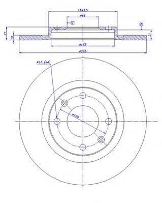 CAR 142528 Тормозной диск