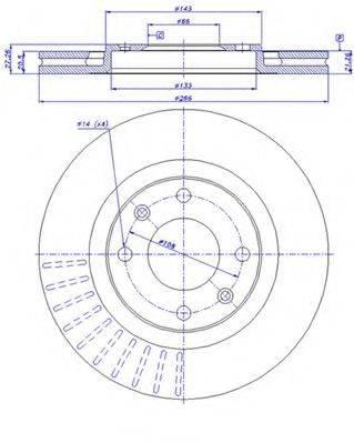 CAR 142531 Тормозной диск