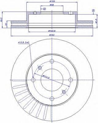 CAR 142907 Тормозной диск