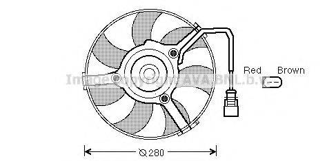 AVA QUALITY COOLING AI7516 Вентилятор, охлаждение двигателя