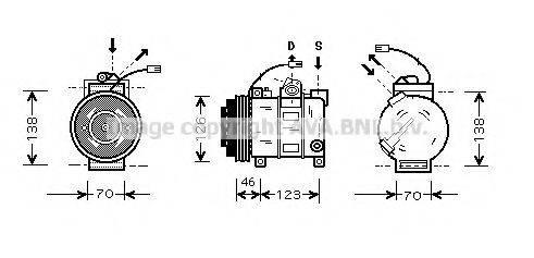 AVA QUALITY COOLING AIAK015 Компрессор, кондиционер