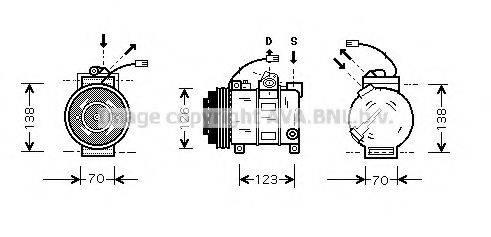 AVA QUALITY COOLING AIK015 Компрессор, кондиционер