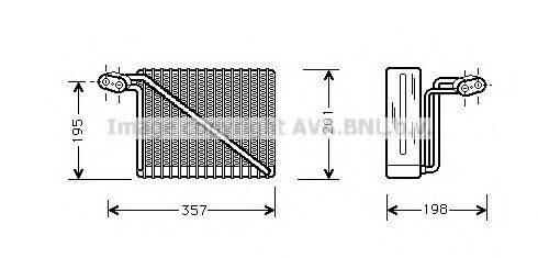 AVA QUALITY COOLING AIV148 Испаритель, кондиционер