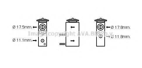 AVA QUALITY COOLING CN1275 Расширительный клапан, кондиционер