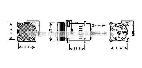 AVA QUALITY COOLING CNK023 Компрессор, кондиционер