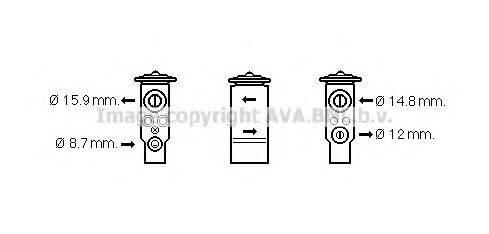 AVA QUALITY COOLING MT1238 Расширительный клапан, кондиционер