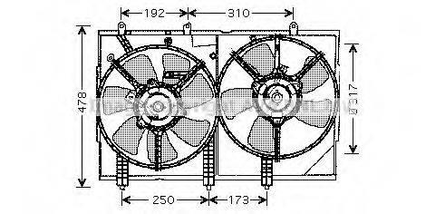 AVA QUALITY COOLING MT7523 Вентилятор, охлаждение двигателя