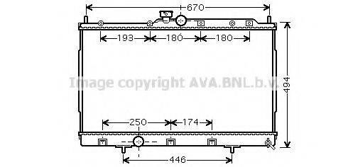 AVA QUALITY COOLING MTA2183 Радиатор, охлаждение двигателя