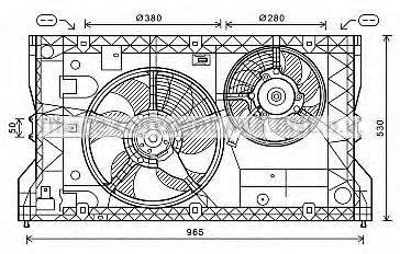 AVA QUALITY COOLING OL7588 Вентилятор, охлаждение двигателя