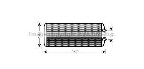 AVA QUALITY COOLING PE6311 Теплообменник, отопление салона
