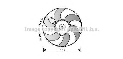 AVA QUALITY COOLING PE7513 Вентилятор, охлаждение двигателя