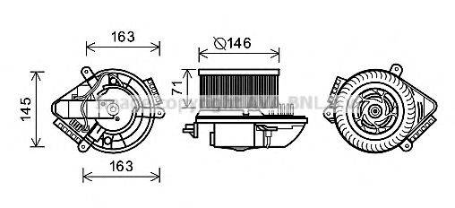 AVA QUALITY COOLING PE8504 Электродвигатель, вентиляция салона