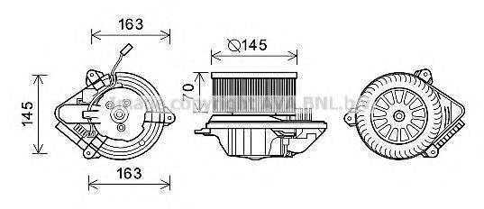 AVA QUALITY COOLING PE8510 Электродвигатель, вентиляция салона