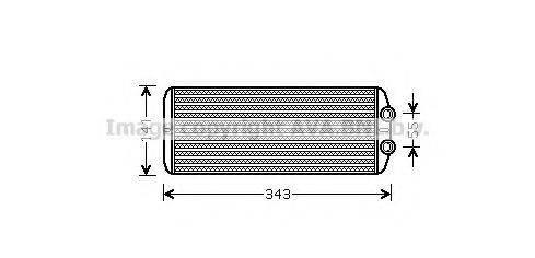 AVA QUALITY COOLING PEA6311 Теплообменник, отопление салона