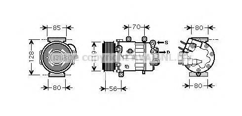 AVA QUALITY COOLING PEK322 Компрессор, кондиционер