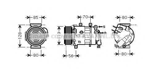 AVA QUALITY COOLING PEK324 Компрессор, кондиционер
