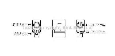 AVA QUALITY COOLING RT1488 Расширительный клапан, кондиционер