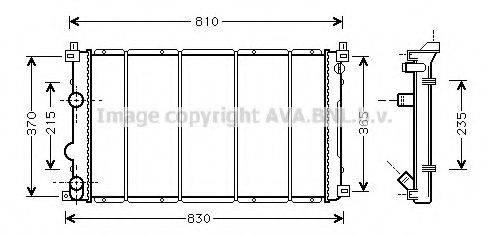 AVA QUALITY COOLING RT2361 Радиатор, охлаждение двигателя
