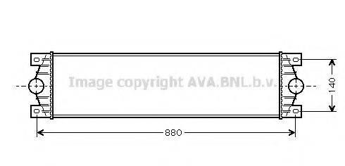 AVA QUALITY COOLING RTA4089 Интеркулер