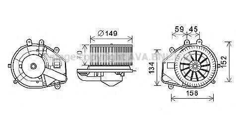 AVA QUALITY COOLING VW8352 Электродвигатель, вентиляция салона