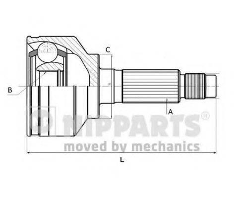NIPPARTS J2825018 Шарнирный комплект, приводной вал