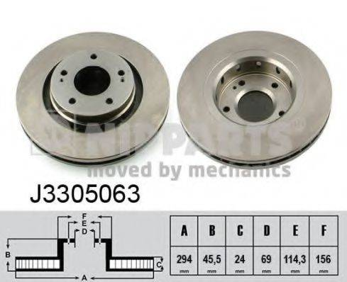 NIPPARTS J3305063 Тормозной диск