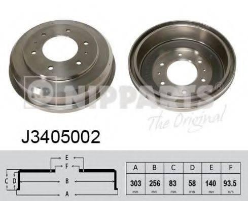 NIPPARTS J3405002 Тормозной барабан