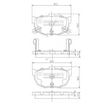 NIPPARTS J3610505 Комплект тормозных колодок, дисковый тормоз