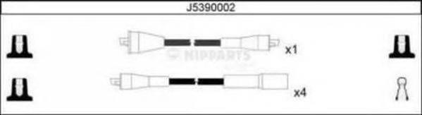 NIPPARTS J5390002 Комплект проводов зажигания