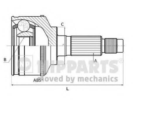 NIPPARTS N2825028 Шарнирный комплект, приводной вал