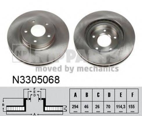 NIPPARTS N3305068 Тормозной диск