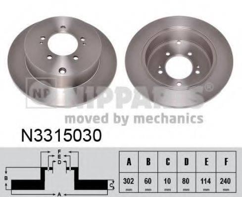 NIPPARTS N3315030 Тормозной диск