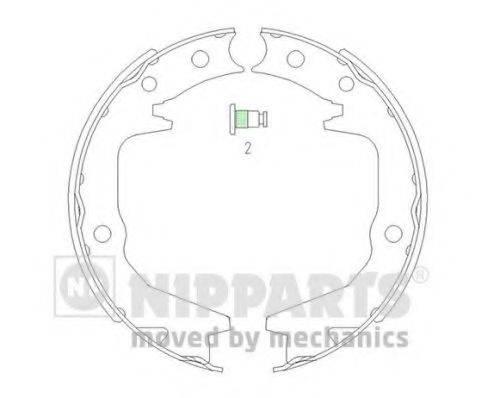 NIPPARTS J3505039 Комплект тормозных колодок, стояночная тормозная система