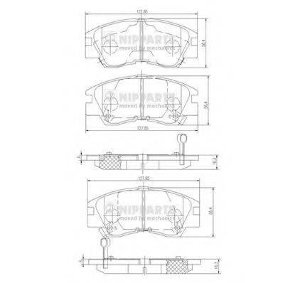 NIPPARTS J3605027 Комплект тормозных колодок, дисковый тормоз