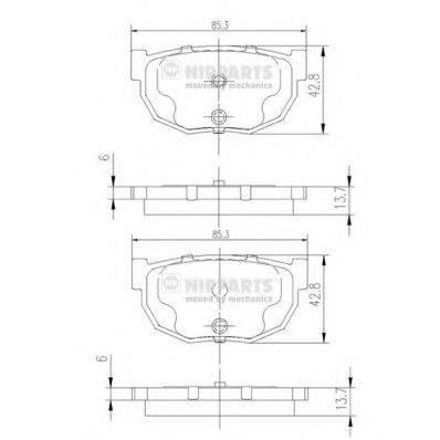 NIPPARTS J3611021 Комплект тормозных колодок, дисковый тормоз