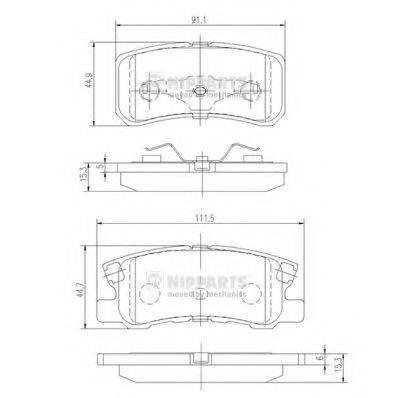 NIPPARTS J3615010 Комплект тормозных колодок, дисковый тормоз