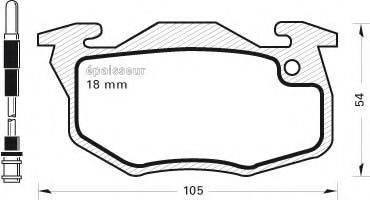 MGA 194 Комплект тормозных колодок, дисковый тормоз