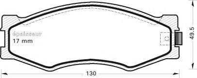 MGA 278 Комплект тормозных колодок, дисковый тормоз