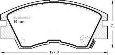 MGA 279 Комплект тормозных колодок, дисковый тормоз