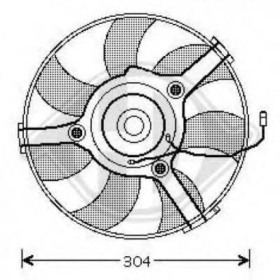 DIEDERICHS 1016101 Вентилятор, охлаждение двигателя