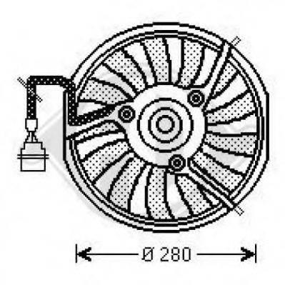 DIEDERICHS 1025101 Вентилятор, охлаждение двигателя