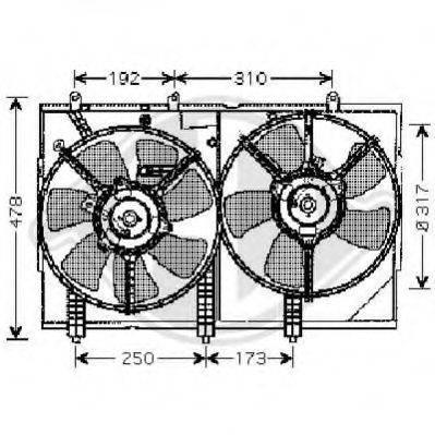 DIEDERICHS 5846801 Вентилятор, охлаждение двигателя