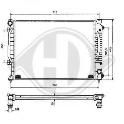 DIEDERICHS 8101155 Радиатор, охлаждение двигателя