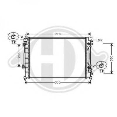DIEDERICHS 8101156 Радиатор, охлаждение двигателя
