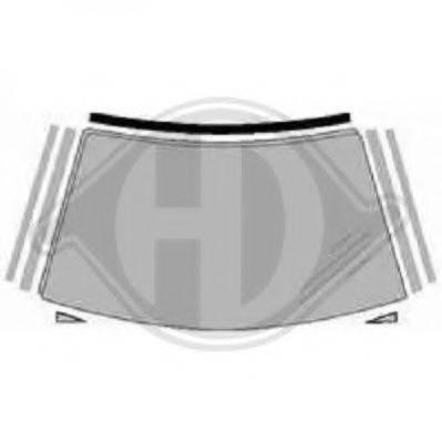 DIEDERICHS 8308508 Облицовка / защитная накладка, ветровое стекло